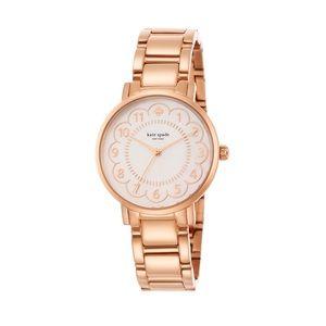 Kate Spade Gramercy rose gold scalloped watch